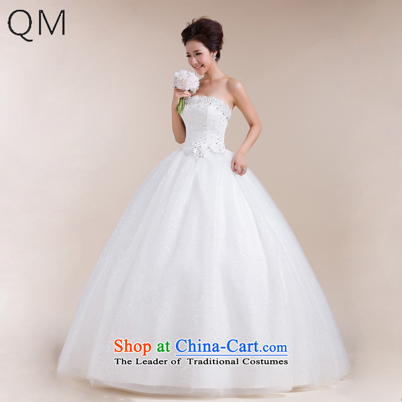 The end of the light (QM) Wedding anointed chest butterfly end waist wedding minimalist wedding dresses CTX HS553 m White�L