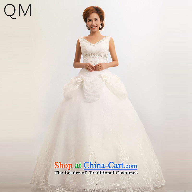 The end of the light _QM_ Wedding shoulders wedding sweet marriages wedding dresses CTX m White XXL