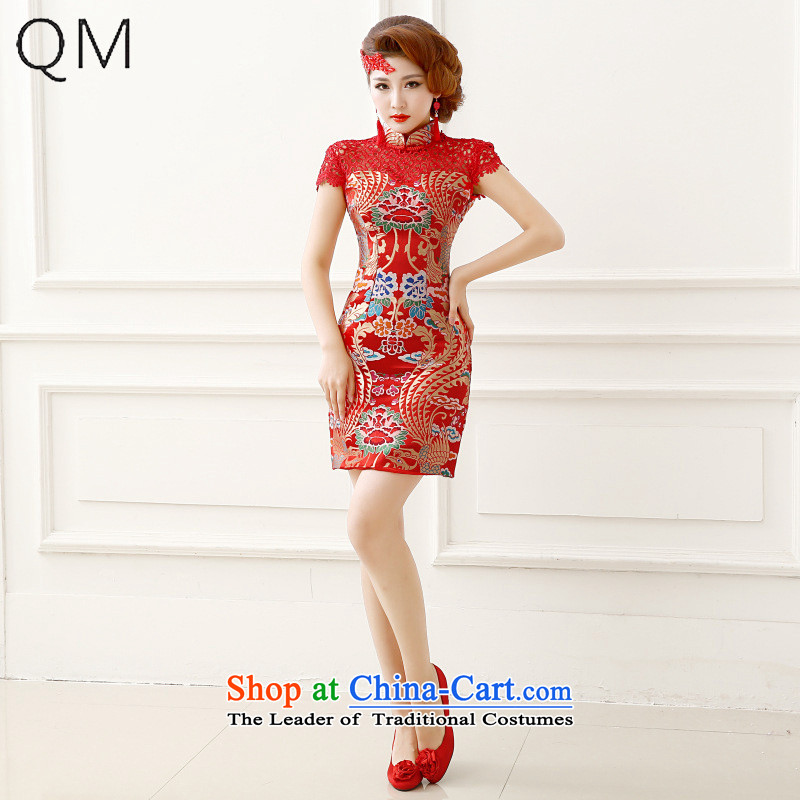 The end of the light (QM) crowsfoot wedding dresses qipao bride bows to marry wedding CTX QP150 RED�XXL