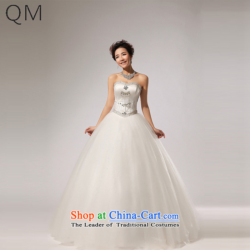 The end of the light (QM) and chest diamond alignment to bon bon skirt wedding dresses CTX HS260 dropped m White�M