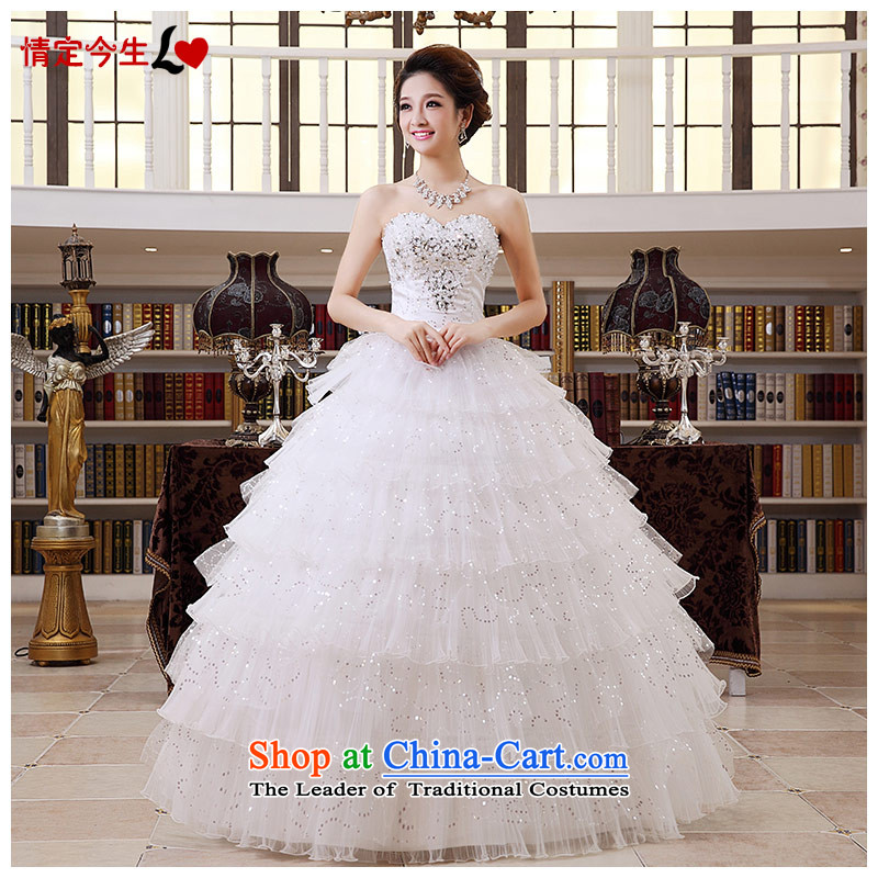 Love of the overcharged by 2015 new anointed chest tail wedding spring_ Bride video thin wedding dress female diamond alignment of the funds from the 2 ft 3 waistline XXL