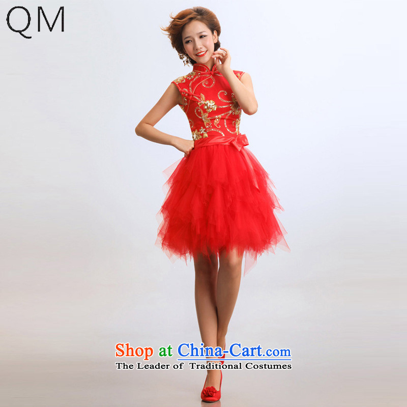 The end of the light (QM) short of qipao wedding marriages wedding dresses qipao bride CTX RED?XL