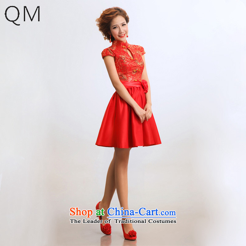 The end of the light _QM_ improvement and the relatively short time of qipao qipao marriages wedding dresses qipao CTX RED聽L