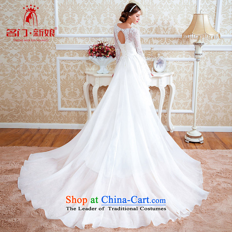 A Bride wedding dresses of the original design of the palace tail wedding winter 4538th M