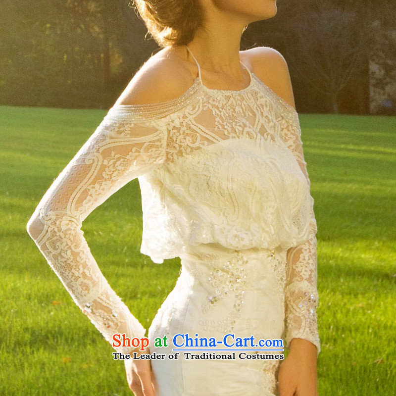 A Bride wedding dresses new 2015 winter lace crowsfoot wedding long tail luxury聽2516 S, a bride shopping on the Internet has been pressed.
