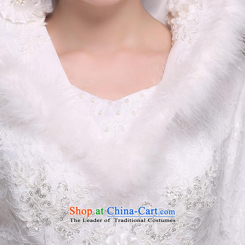 Hei Kaki 2014 new winter wedding to align the long-sleeved winter) Marriages video thin princess wedding dresses D007XXL, white-hi kaki shopping on the Internet has been pressed.