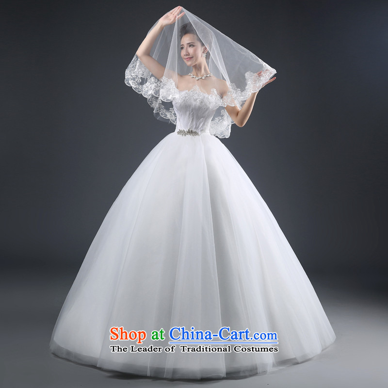 Jie mija wedding dresses 2015 new stylish Korean anointed chest to bon bon skirt marriages straps for larger XL