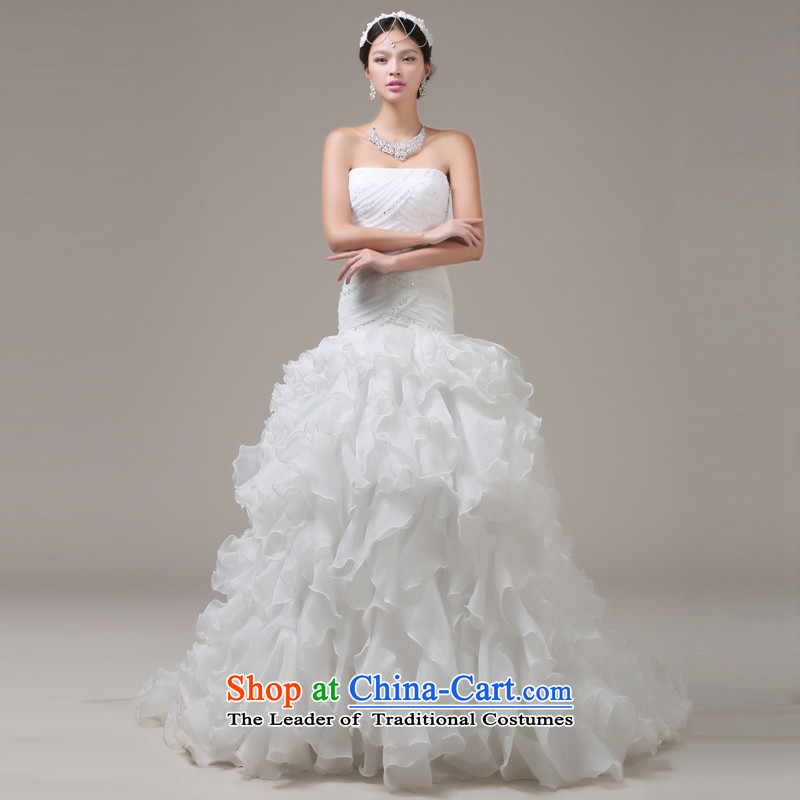 Jie mija crowsfoot wedding dresses 2014 new Korean word shoulder retro Sau San video thin tail weddingXXL