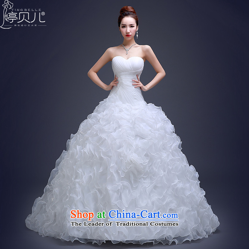 Beverly Ting wedding dresses new 2015 Long Tail and stylish chest-video thin princess bon bon skirt bride wedding Winter load white�L