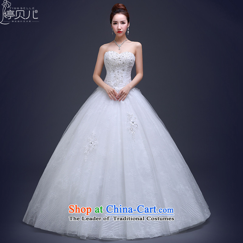 Beverly Ting wedding anointed chest 2015 Spring video thin stylish Korean lace white A skirt to bind with the Align Sau San wedding white?S