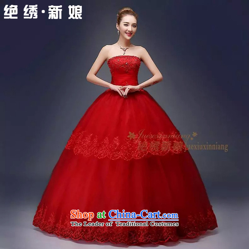 Embroidered is the? new Korean brides 2015 Edition Diamond Luxury depilation chest straps to align the elegant wedding red?XL?Suzhou Shipment