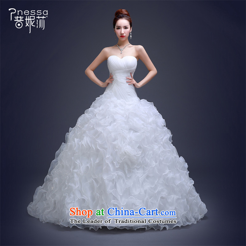 The Republika Srpska Divas New Korea 2015 wedding anointed chest diamond large Fat MM Sau San tie wedding luxurious stereo flowers long tail wedding white tailored
