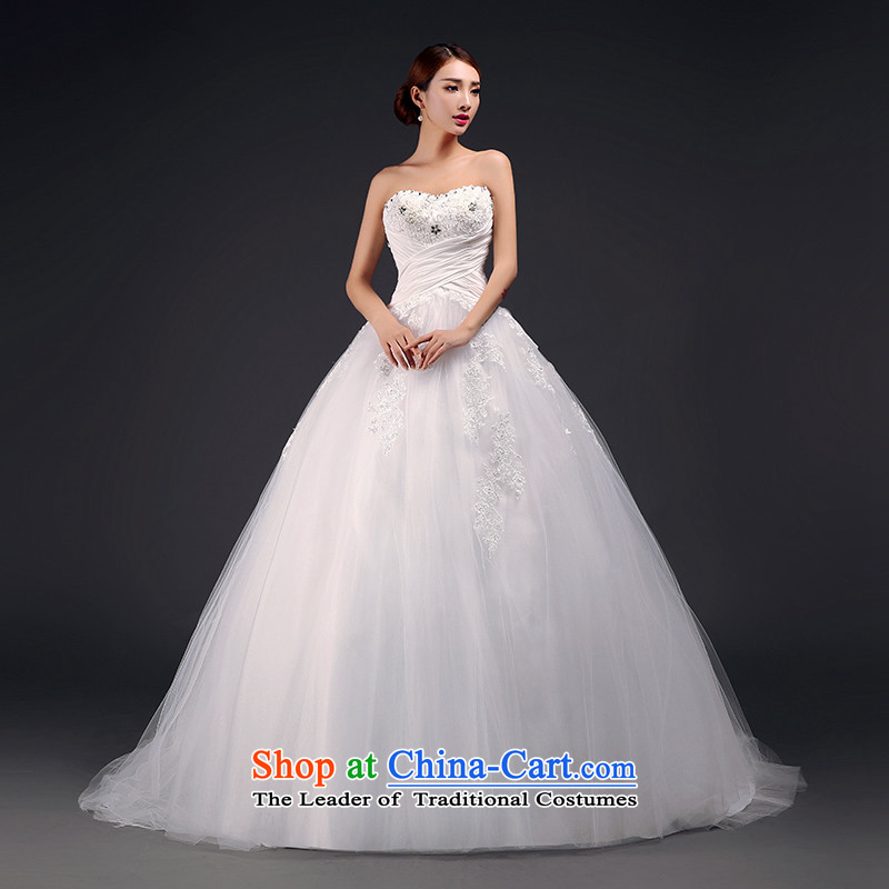 The first field shoulder wedding dress winter 2015 new graphics skinny tail wedding shoulders and chest wedding?3 through law-white?S?sweet shoulders