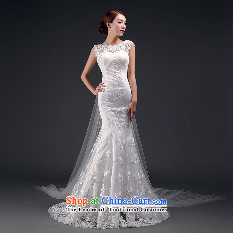 St��phane Yu to wedding dresses new 2015 wedding long word     crowsfoot shoulder bride wedding dress m White?S