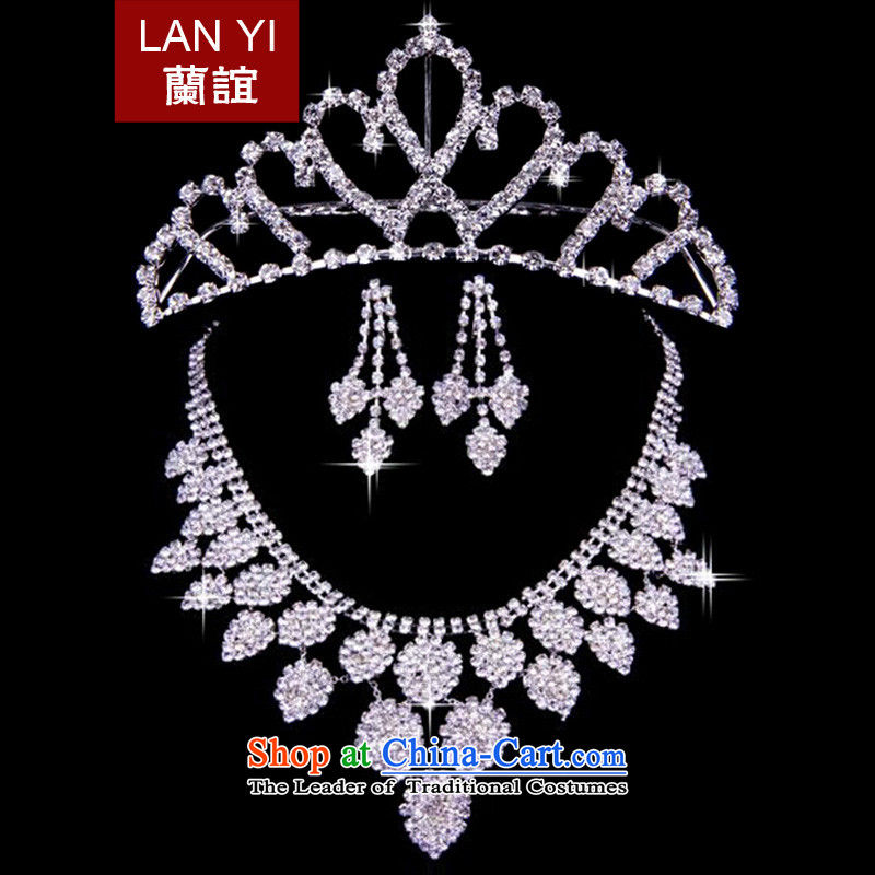 In�2015, Friends bride wedding dresses accessories bride crown necklace earrings three piece wedding dress accessories accessories Kits