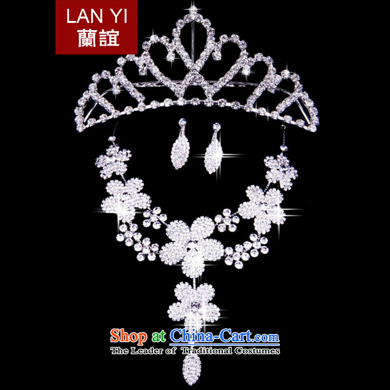 In?2015, Friends bride wedding dresses accessories bride crown necklace earrings three piece wedding dress accessories accessories Kits