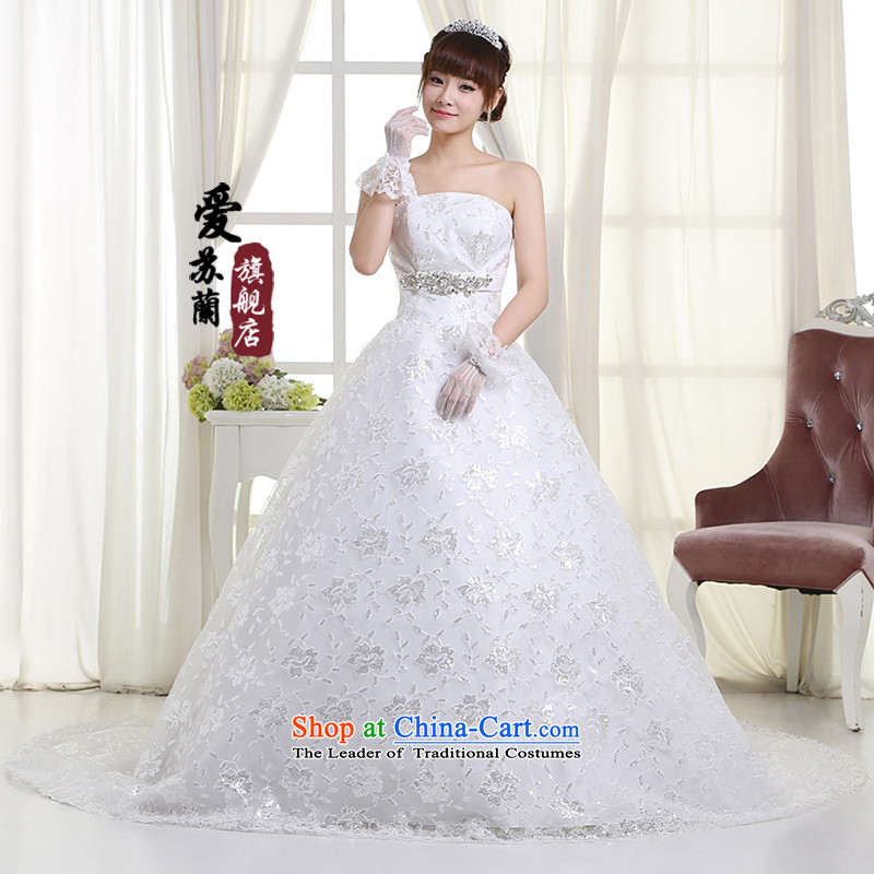The new long tail wedding wedding marriages long tail wedding upscale tail wedding聽H99, white聽XXXL, love Su-lan , , , shopping on the Internet