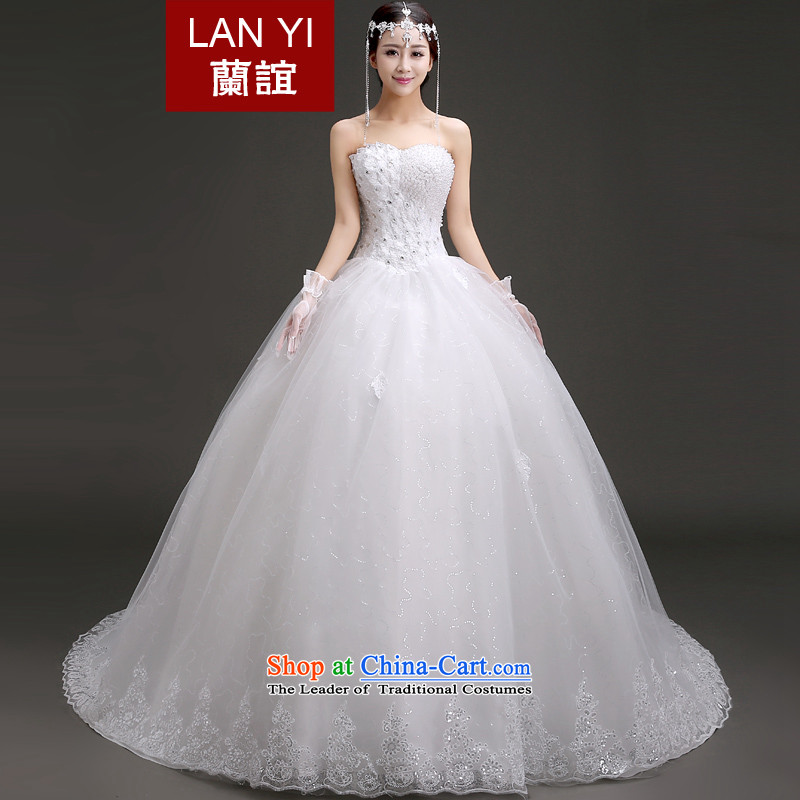 Friends�of the 2015 Winter Olympics, the new bride wedding Korean anointed chest diamond jewelry large tail bon bon skirt wedding to align graphics thin wedding dresses to align�L code waist 2.1 foot