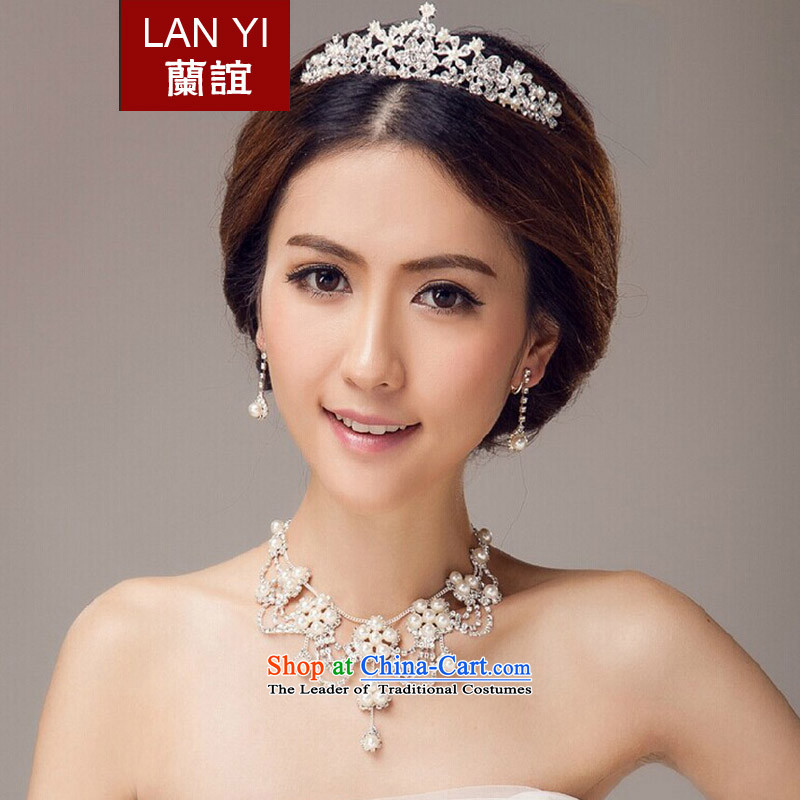 In?2015, Friends bride wedding dresses accessories Korean brides crown necklace earrings three piece bridal jewelry and ornaments wedding dress accessory kits