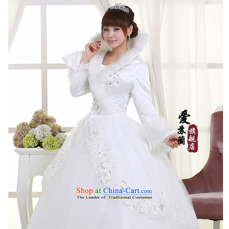 Winter clothing bride wedding wedding dresses marriage wedding new wedding warm white weddingXXL, Su-lan , , , Love shopping on the Internet