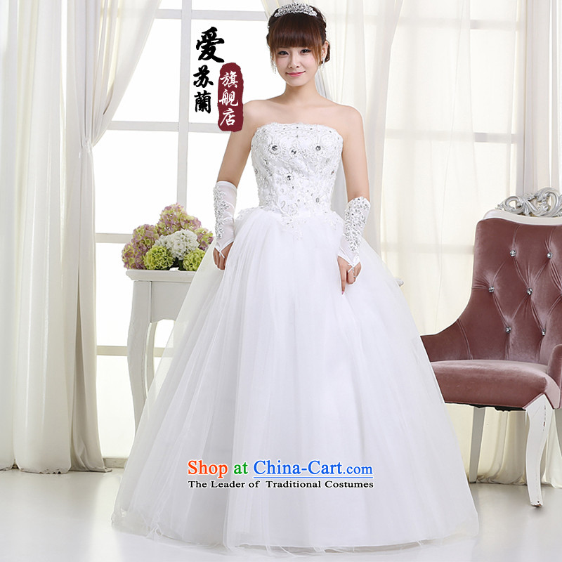 The new bride wedding wedding dresses marriage wedding dresses princess wedding dresses White聽XXL