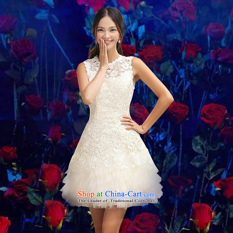 Evening dress short summer 2015_ new bridesmaid services spring dresses bridal dresses, bows to small countries such as sisters Ms. moderator will betrothal birthday Services White聽M