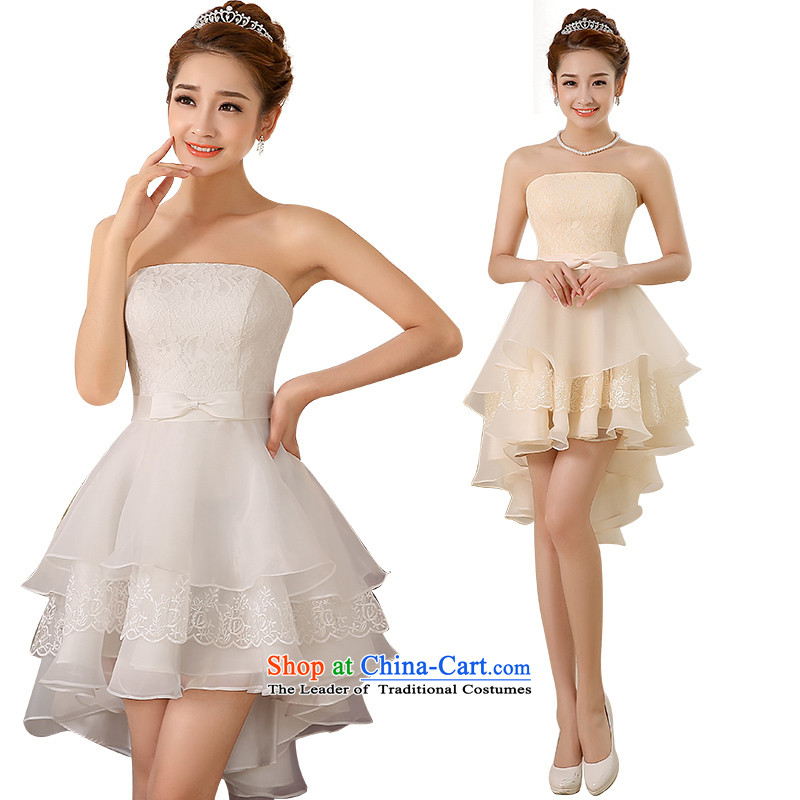 Bridesmaid dress 2015 new small Dress Short, Bridal Services and breast drink after a short gown performances showing the dress moderator dress banquet birthday dress champagne color�M