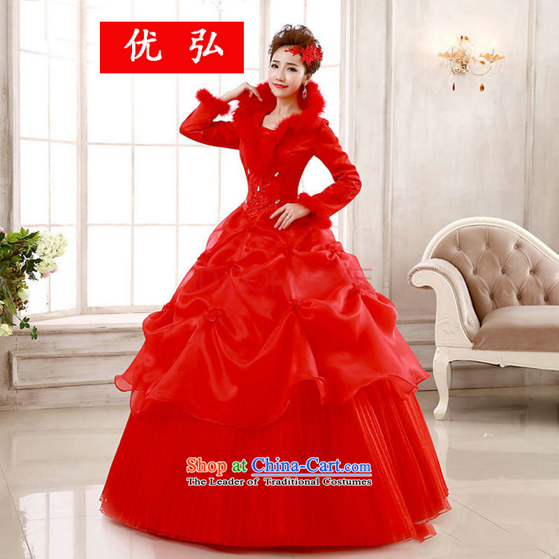 Optimize video winter long-sleeved thick cotton plus wedding winter bride winter_ YSB113 F S