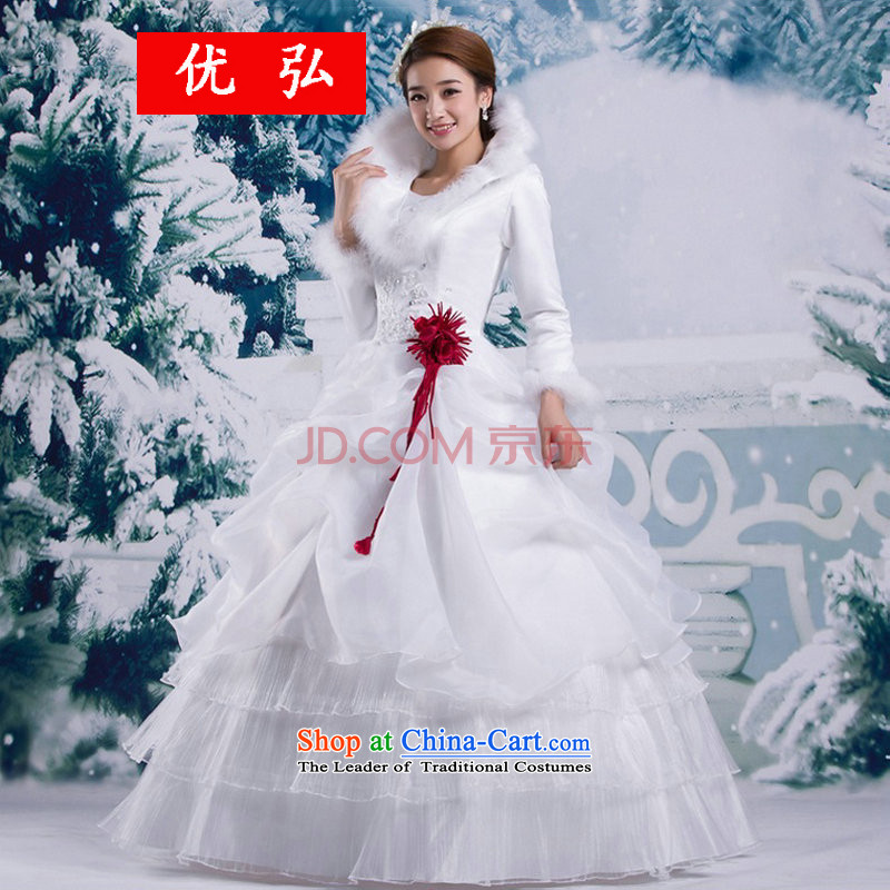 Optimize Hong-winter wedding Korean winter gross for thick winter of long-sleeved) cotton wedding YSB1133 white�L