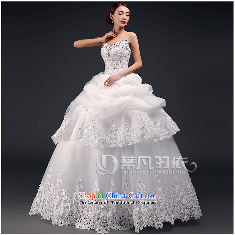 Wedding dresses new 2015 Summer marriages of Sau San video thin Korean alignment with chest lace wedding diamond luxury hotel code upscale wedding m White M