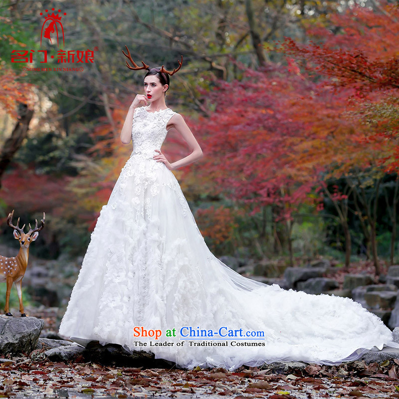 A Bride聽2015 Original Design wedding dreams big tail sum female dream wedding聽2509 L