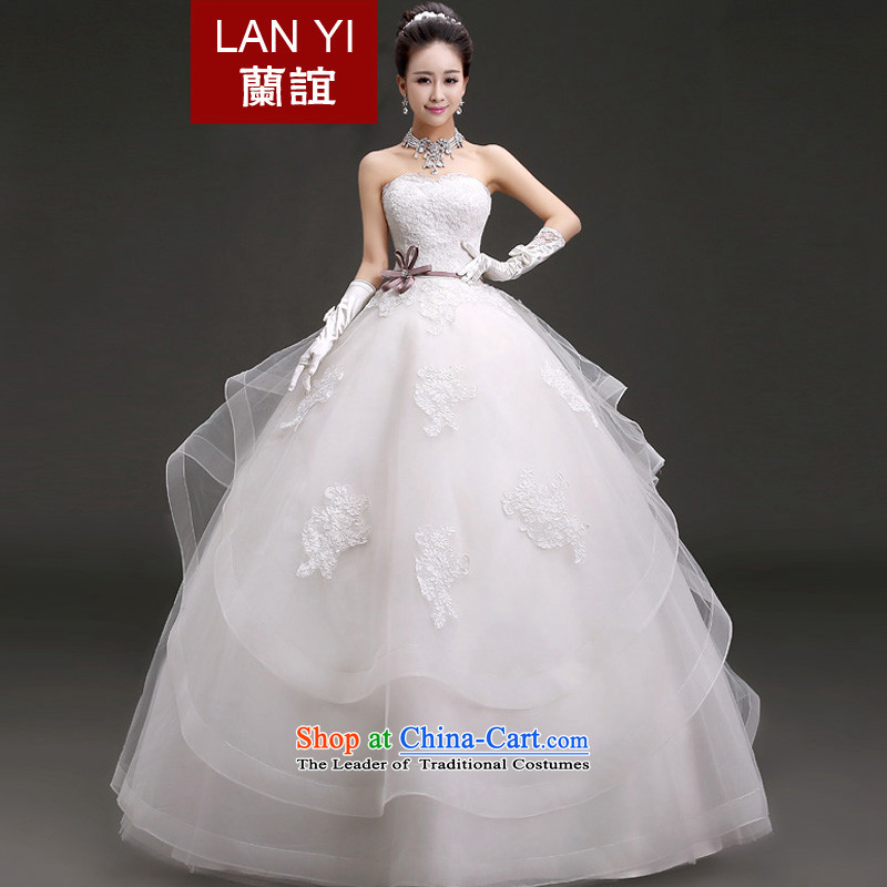 In 2015, the new bride friends wedding Korean anointed chest video thin wedding spring straps to align the marriage wedding dresses quality assurance XXL waist 2.3 Feet