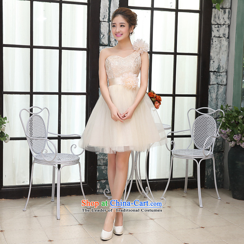 Hei Kaki autumn and winter bridesmaid Dress Short, banquet evening dresses and sisters mission bridesmaid skirt moderator small dress X014 style 2 XS