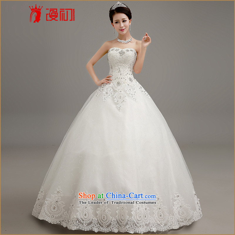 In the early?2015 new man wedding luxury water drilling and chest wedding marriages princess graphics thin wedding White?XL code