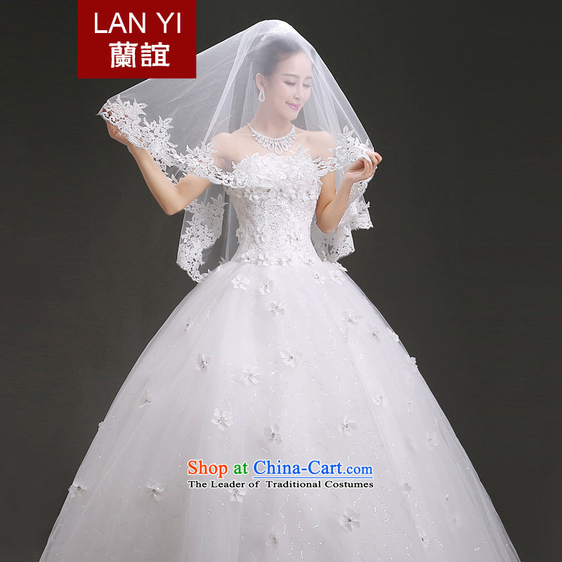 In?2015, Friends bride wedding dresses accessories Korean lace head of?1.5 m bride wedding accessories and legal wedding photo building supplies White