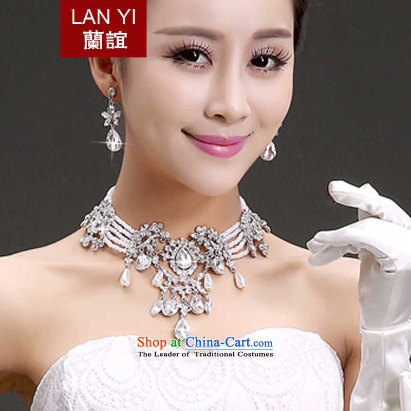 In聽2015 the new bride friends wedding dresses accessories Korean brides head ornaments of international crown necklace earrings three piece bridal jewelry photo building wedding necklace Earrings