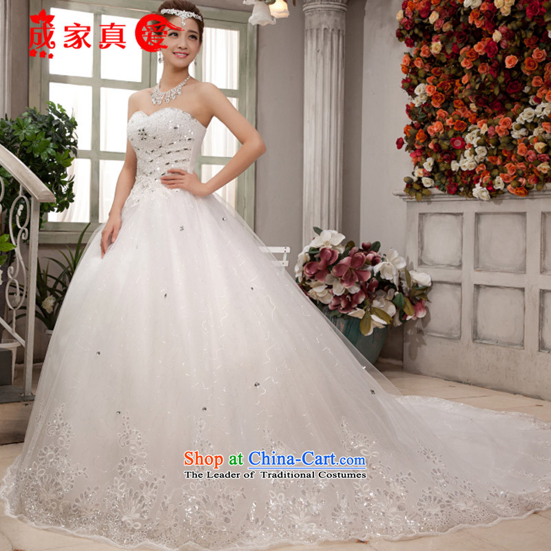 The knot true love wedding dresses new 2015 winter clothing lace white Korean brides and chest straps to align the large wedding video thin white streak of $464?L?package-Mail 3-piece set