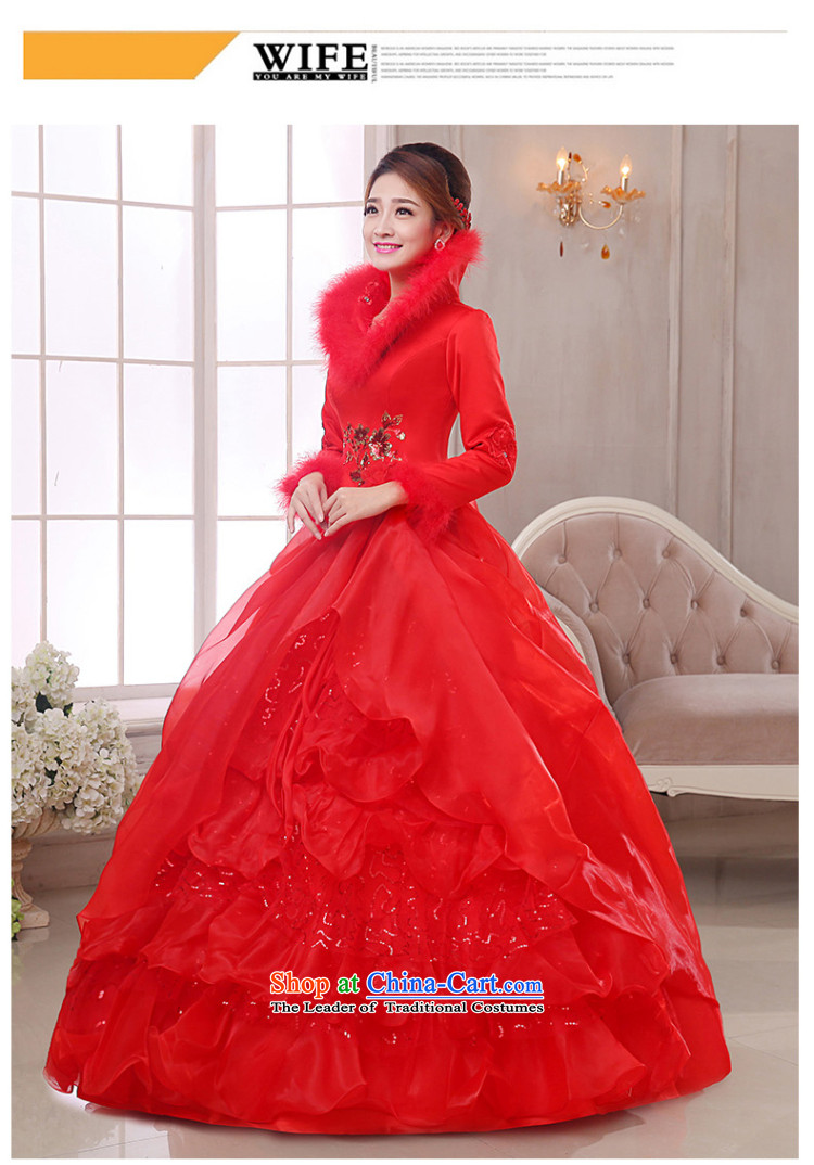 The knot of true love, wedding dresses winter 2015 new red shoulders a long-sleeved marriages to align the wedding plus gross fall thick red wedding + 3-piece setM pictures, prices, brand platters! The elections are supplied in the national character of distribution, so action, buy now enjoy more preferential! As soon as possible.