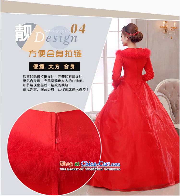 The knot of true love, wedding dresses winter 2015 new red shoulders a long-sleeved marriages to align the wedding plus gross fall thick red wedding + 3-piece set M pictures, prices, brand platters! The elections are supplied in the national character of distribution, so action, buy now enjoy more preferential! As soon as possible.