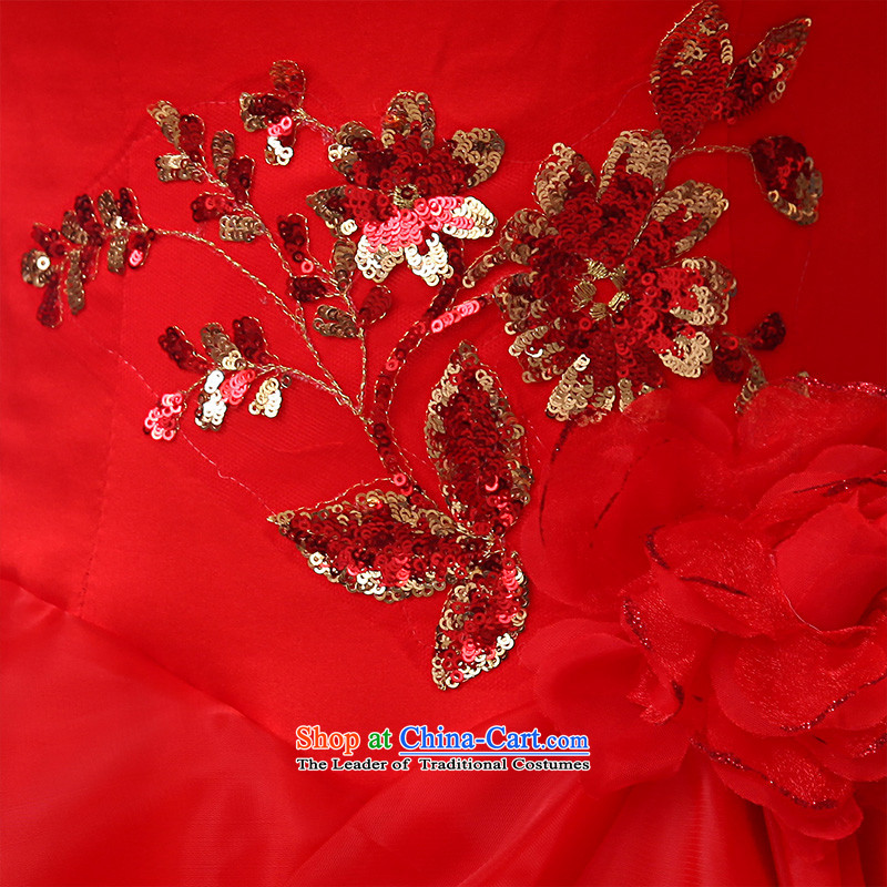 The knot of true love, wedding dresses winter 2015 new red shoulders a long-sleeved marriages to align the wedding plus gross fall thick red wedding + 3-piece setM Chengjia True Love , , , shopping on the Internet