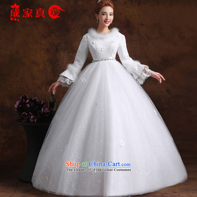The knot true love pregnant women, Bridal Suite 2015 winter new shoulders red white long-sleeved top loin of marriages with large white women fall