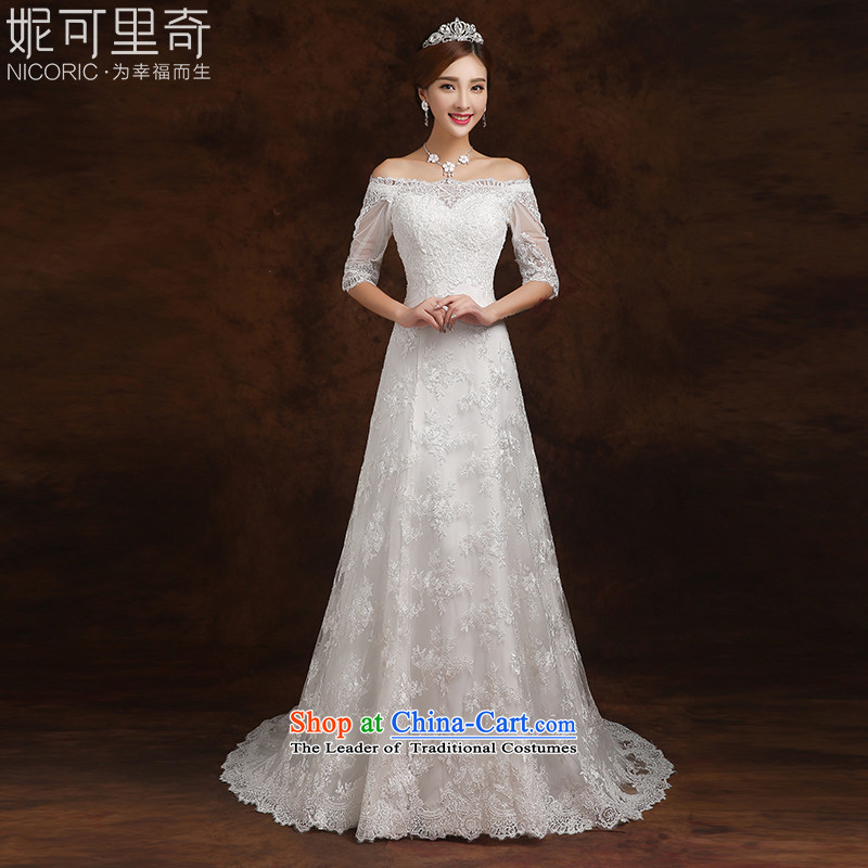 Kidman, wedding dresses 2015 winter trendy first field in shoulder cuff bride wedding Sau San small trailing white?M(3-5 wedding day shipping)