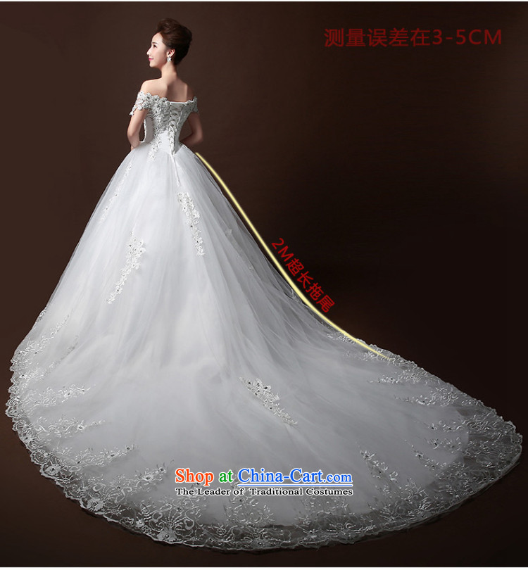 Wedding dresses new Word 2015 winter stylish wedding small shoulder bride tail wedding lace Diamond White L I bought it for Sau San rushed wedding three kit) Picture, prices, brand platters! The elections are supplied in the national character of distribution, so action, buy now enjoy more preferential! As soon as possible.