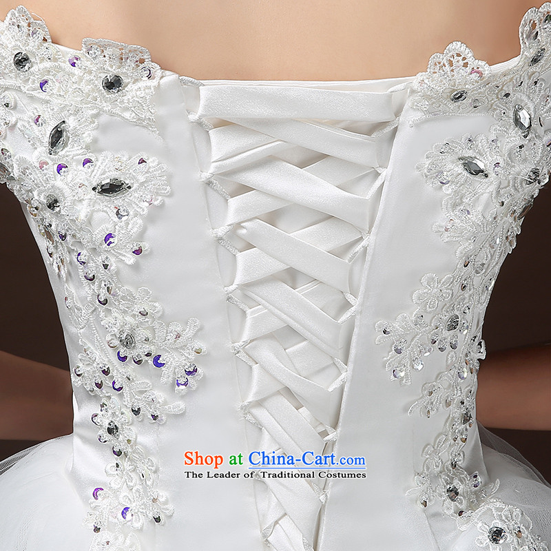Wedding dresses new Word 2015 winter stylish wedding small shoulder bride tail wedding lace Diamond White L I bought it for Sau San rushed wedding kits), Nicole Kidman (nicole richie) , , , shopping on the Internet