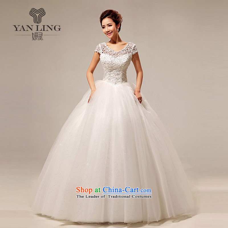 �The Korean version of the new 2015 wedding dress a field shoulder sweet lace princess sexy to align the wedding HS290 S