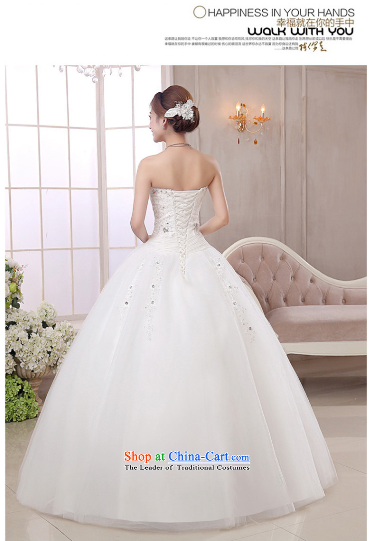 The knot true love wedding dress 2015 new Korean marriages alignment with chest bon bon skirt straps for larger video thin winter female white L picture, prices, brand platters! The elections are supplied in the national character of distribution, so action, buy now enjoy more preferential! As soon as possible.