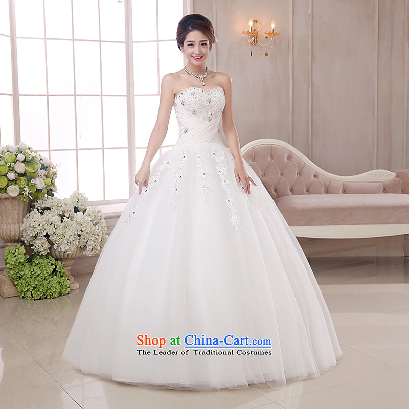 The knot true love wedding dress 2015 new Korean marriages alignment with chest bon bon skirt straps for larger video thin winter clothing female white , L Chengjia True Love , , , shopping on the Internet