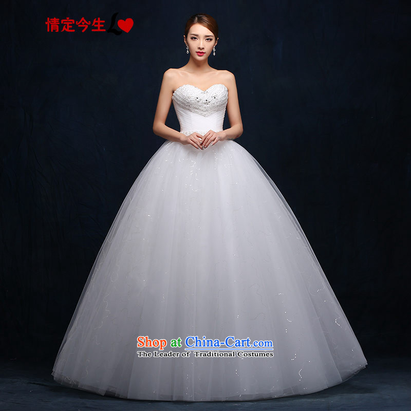Love of the overcharged wedding anointed chest,?2015 new products to align the diamond root yarn with lace V-Neck wedding dress female white?M