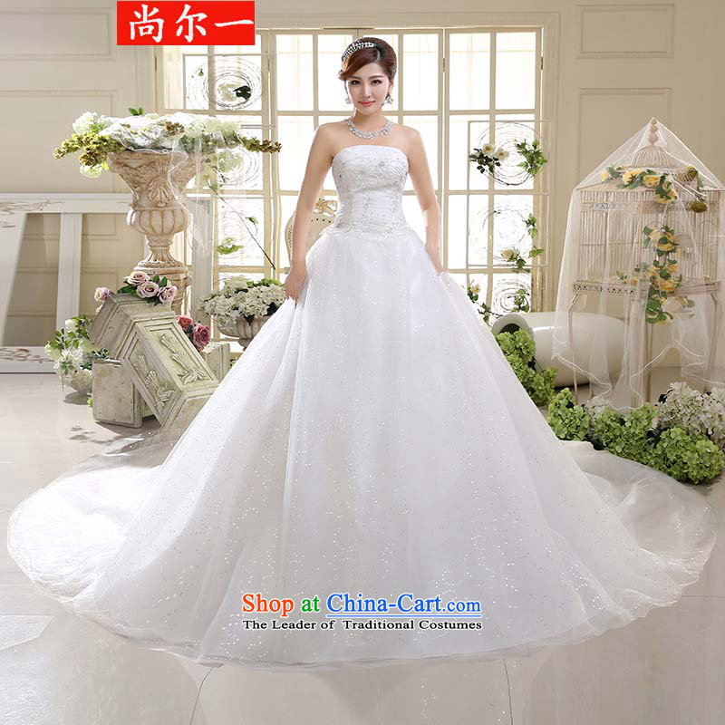 Yet, a chest video thin large tail Sau San tie wedding xs2451 m White聽XXL