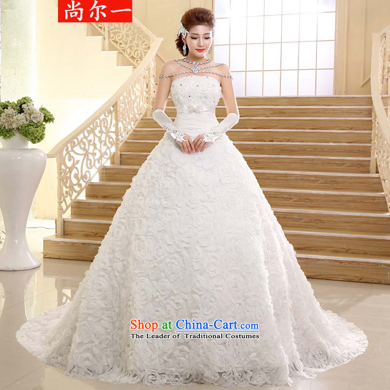 Yet, a new paragraph should be viewed wedding dresses Korean fashion and chest tail drill marriages wedding video xs2426 thin White�XXL